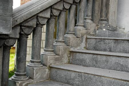 old stairs made of concrete in gothic style