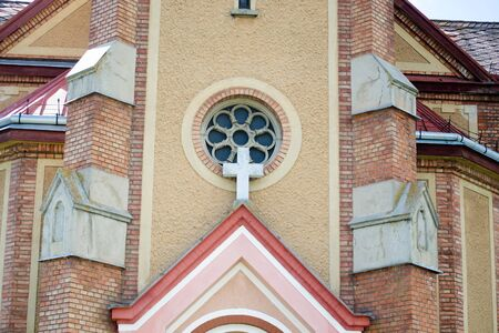 architectural details: christian church in Europe with architectural details