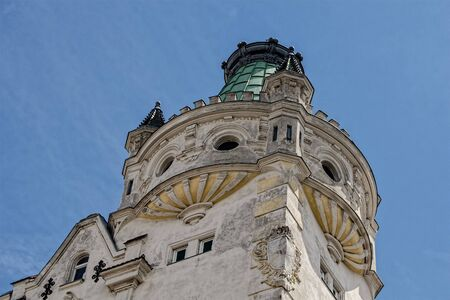 side view of historic church in Austria Stock Photo