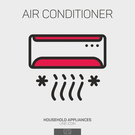 Air Conditioner line icon two colors