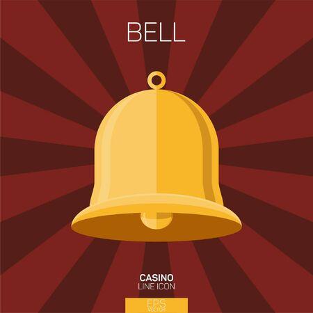 Casino bell slot color icon