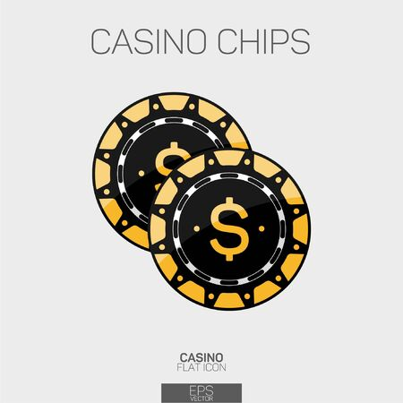 Casino chips vector color icon