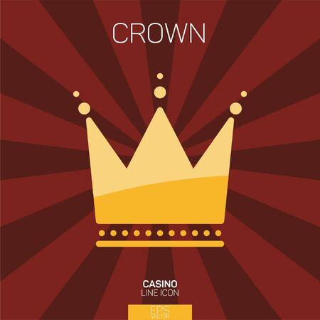 Casino slots crown color icon Stock Illustratie
