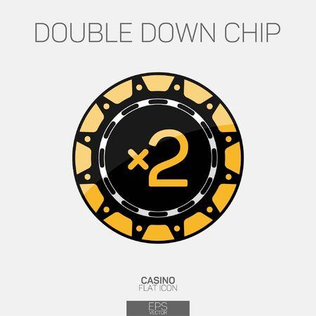 Double down casino chip color icon Ilustrace