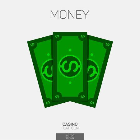 Money bills vector color icon 일러스트