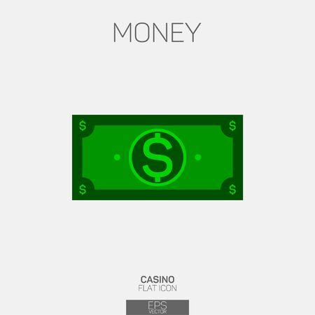 Money bill vector color icon