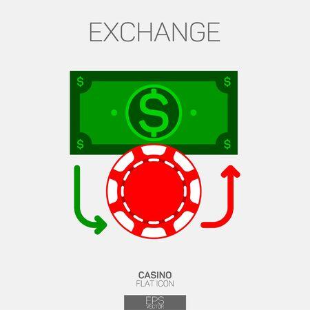 Casino money exchange color icon