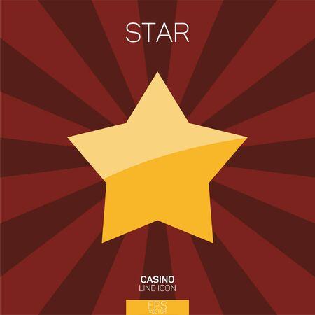Casino slots star color icon
