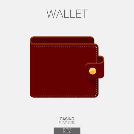Empty wallet vector color icon