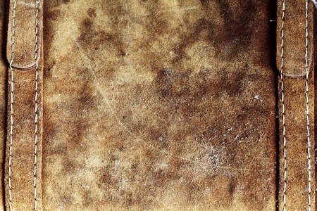 tillable: Grunge and old leather texture with dark edges Stock Photo