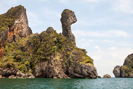 idyllic: idyllic view of island in krabi, thailand