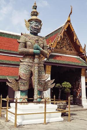 Demon Guardian Wat Phra Kaew Grand Palace Bangkok, Thailand Stock Photo