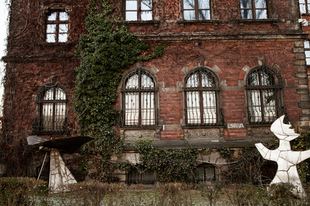 tenement: Beautiful old facade of a building in Poland