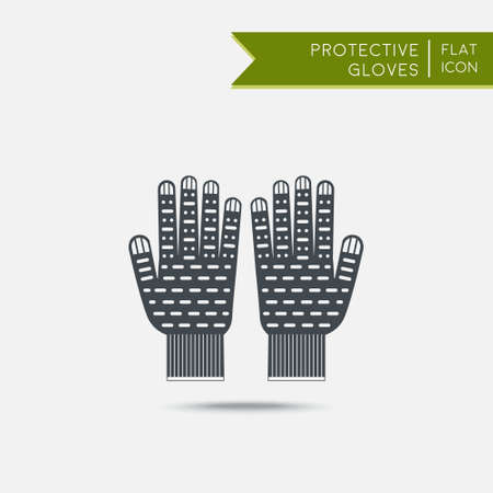 protective gloves: Protective gloves icon. Gloves symbol. Flat illustration. Agriculture tool