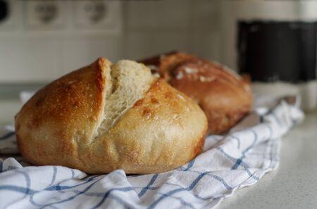 leavened homemade  bread Banco de Imagens