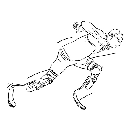 Disabled sports Vector