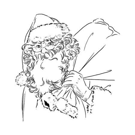 bespectacled man: Illustration of Santa Claus Illustration