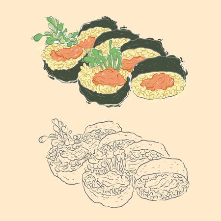 susi: japanese foods Illustration