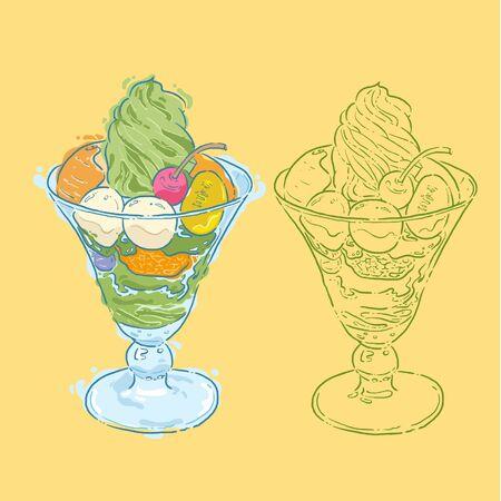 soft serve: ice cream