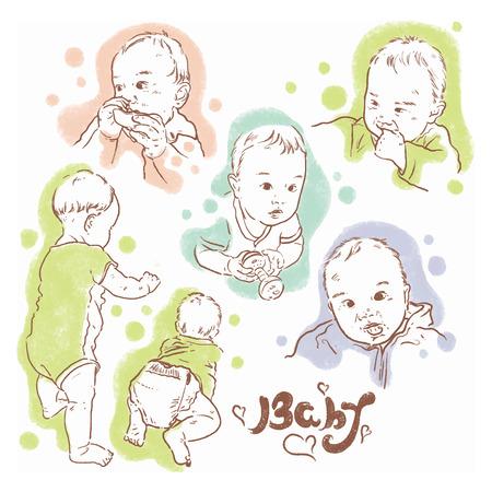 Baby child illustration