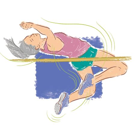 High Jump Women Illustration