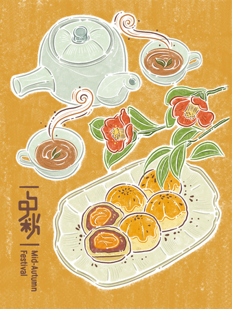 Chinese mid autumn festival, Chinese text means