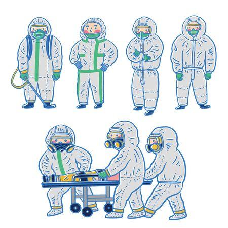 coronavirus Medical personnel, coronavirus protection illustration Ilustracja