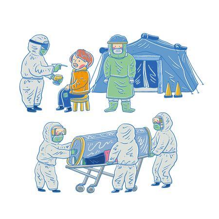 coronavirus Medical personnel, coronavirus protection, vector illustration