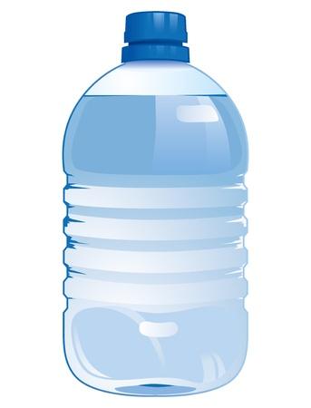 mineralien: realistische Darstellung mit einer Flasche Wasser