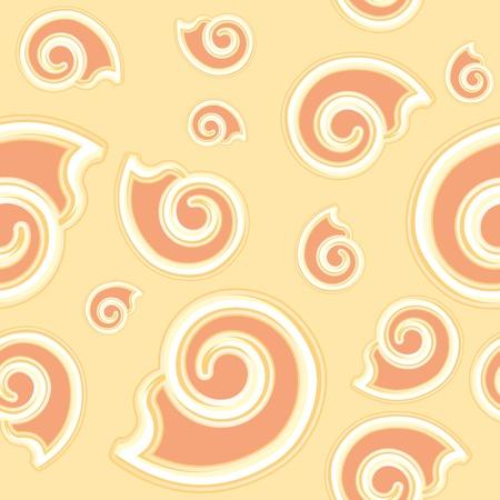 cartoon beige seamless texture of a shell Vector