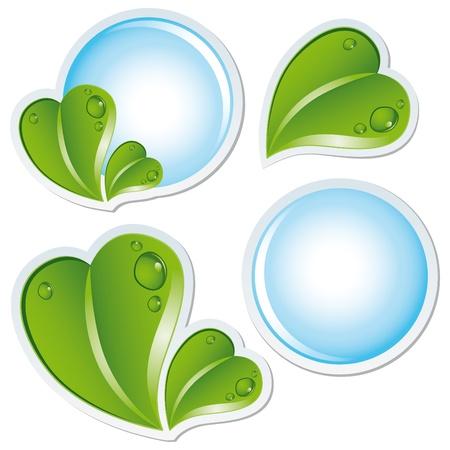 etiquetas redondas: concepto de eco