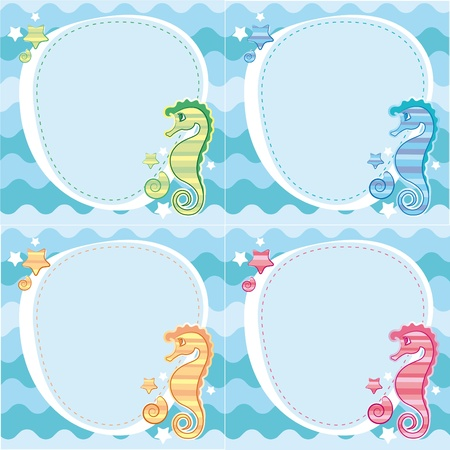 backgrounds of seahorses Vector