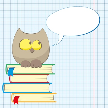 owl and books(0).jpg Vector