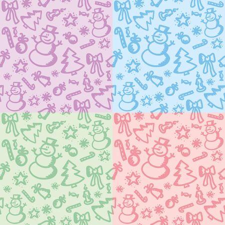four texture: set of four christmas colorful seamless patterns