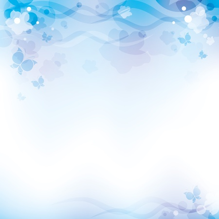 light blue abstract background with transparent elements Vector