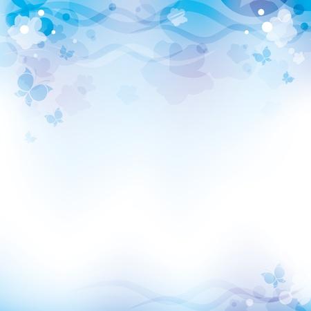 fondo abstracto azul claro con elementos transparentes