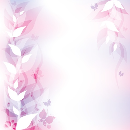 graceful violet abstract background with floral elements