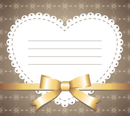 napkins: cute vintage romantic frame with gold bow