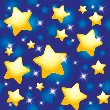 lullaby: seamless pattern with night sky and stars