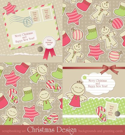 christmas vintage backgrounds and cards. photo