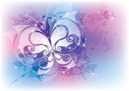 abstract background with butterfly. Stock Vector - 11161829