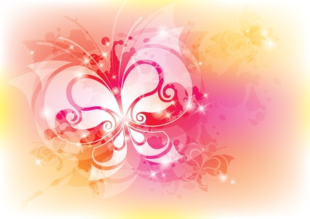 abstract background with butterfly. photo