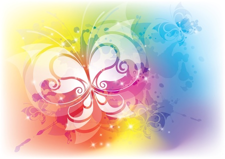 abstract background with a beautiful butterfly. Vector