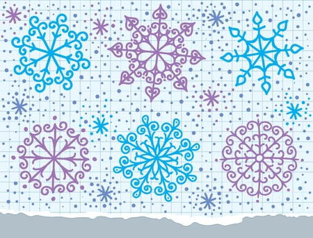 snowflakes set christmas elements Vector