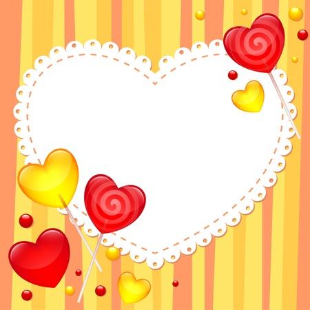 Valentýna blahopřání s lízátka