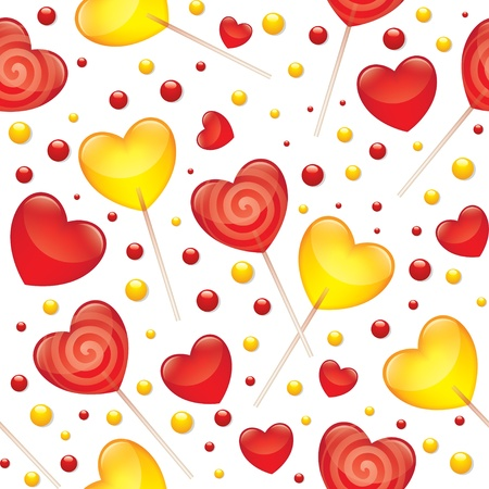 lollipops seamless pattern, valentines day illustration,  Vector