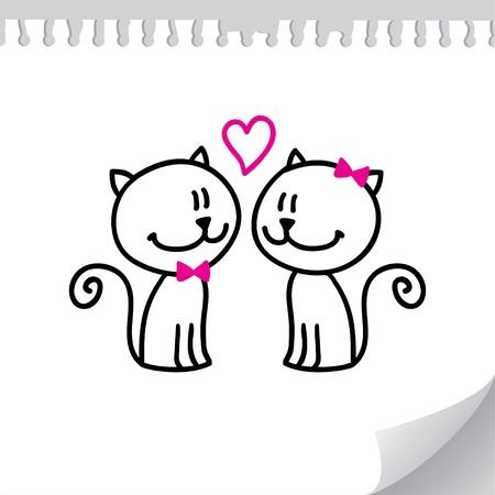 los gatos de San Valentín