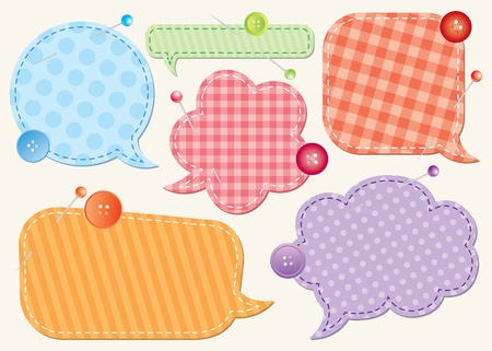 set of speech bubbles, scrapbook design elements photo
