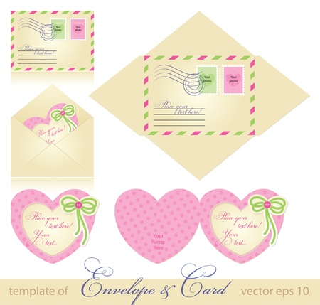 envelope and greeting card template. vector eps 10