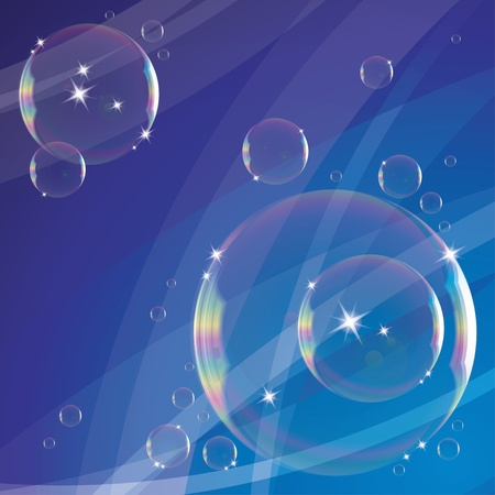 soap bubbles: abstract background with soap bubbles and sparks